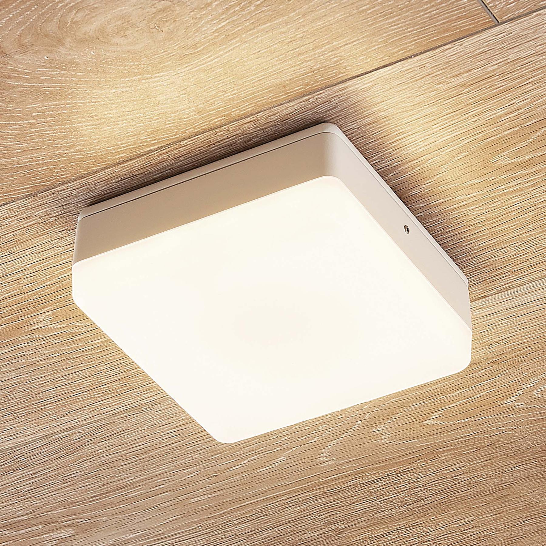 Lampa sufitowa LED Thilo, biała,16 cm, czujnik TL