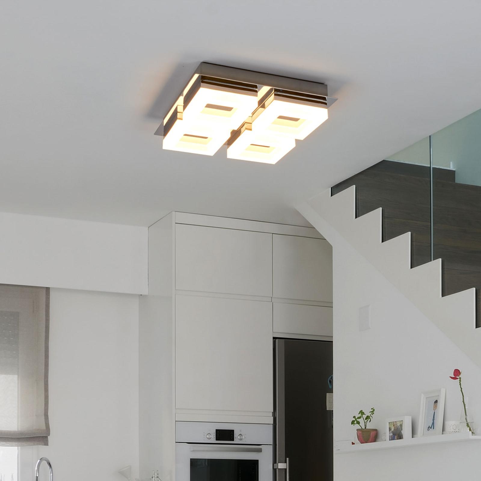 LED badkamer plafondlamp Marija met vier lichtbr.