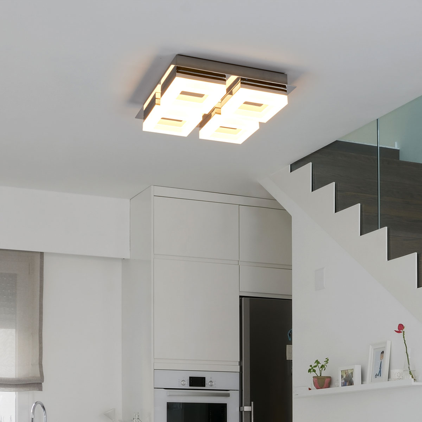 4-punktowa łazienkowa lampa sufitowa LED Marija