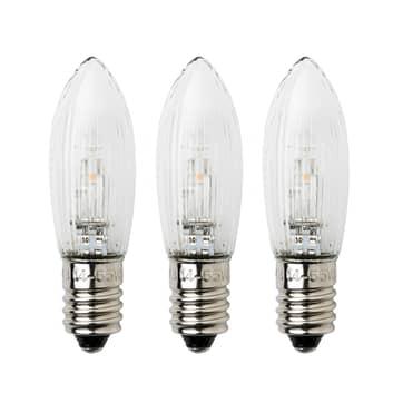 E10 0,3W 24V, 3 bombillas de repuesto