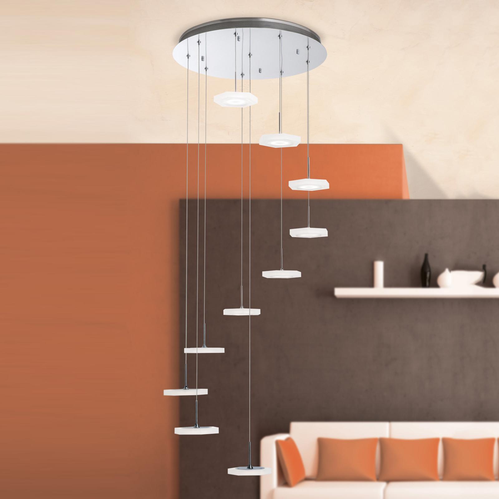 Suspension LED Jenni à 10 lampes