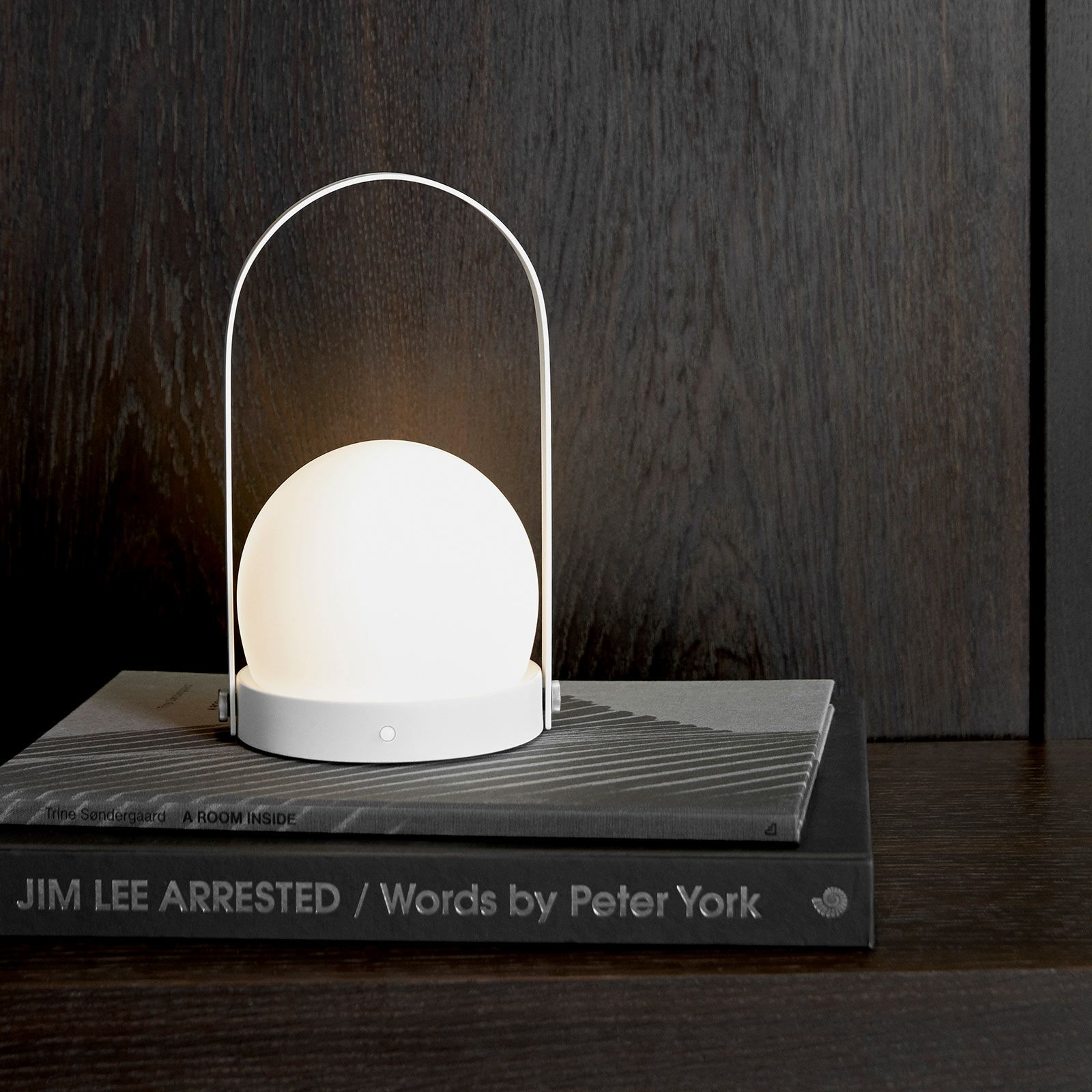 Menu Carrie lampada LED, ricaricabile, bianco