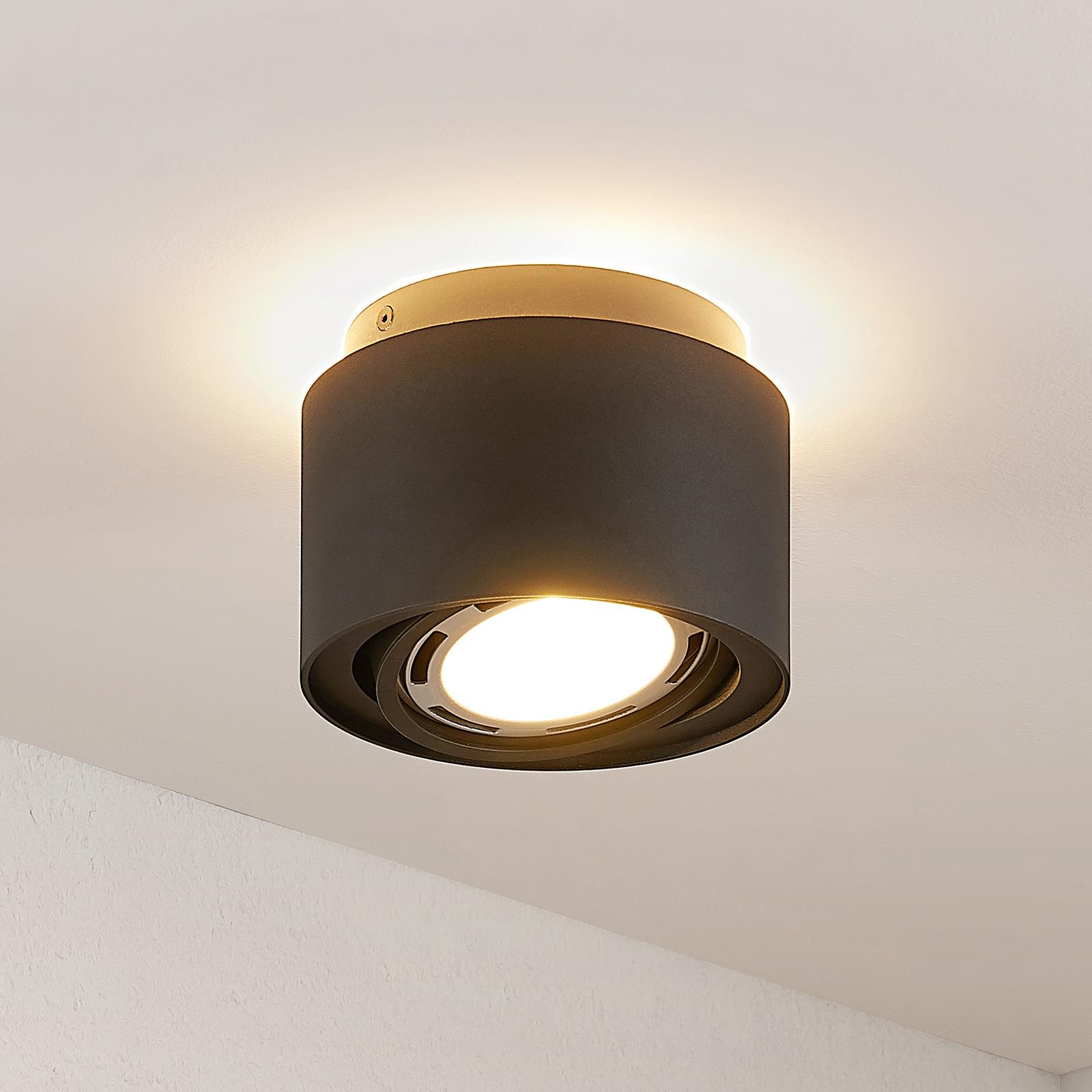 Arcchio Talima LED-Deckenlampe, rund, schwarz