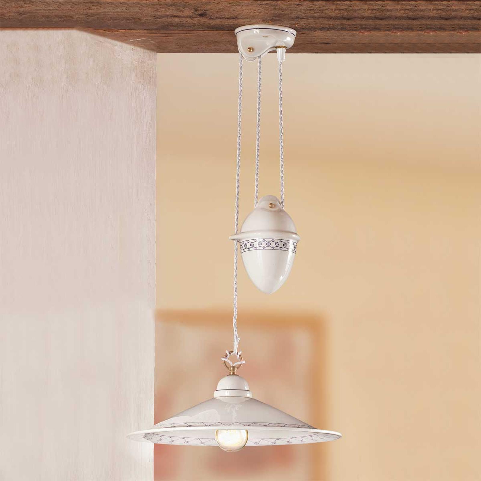 Hanglamp CROCIA met trekgewicht
