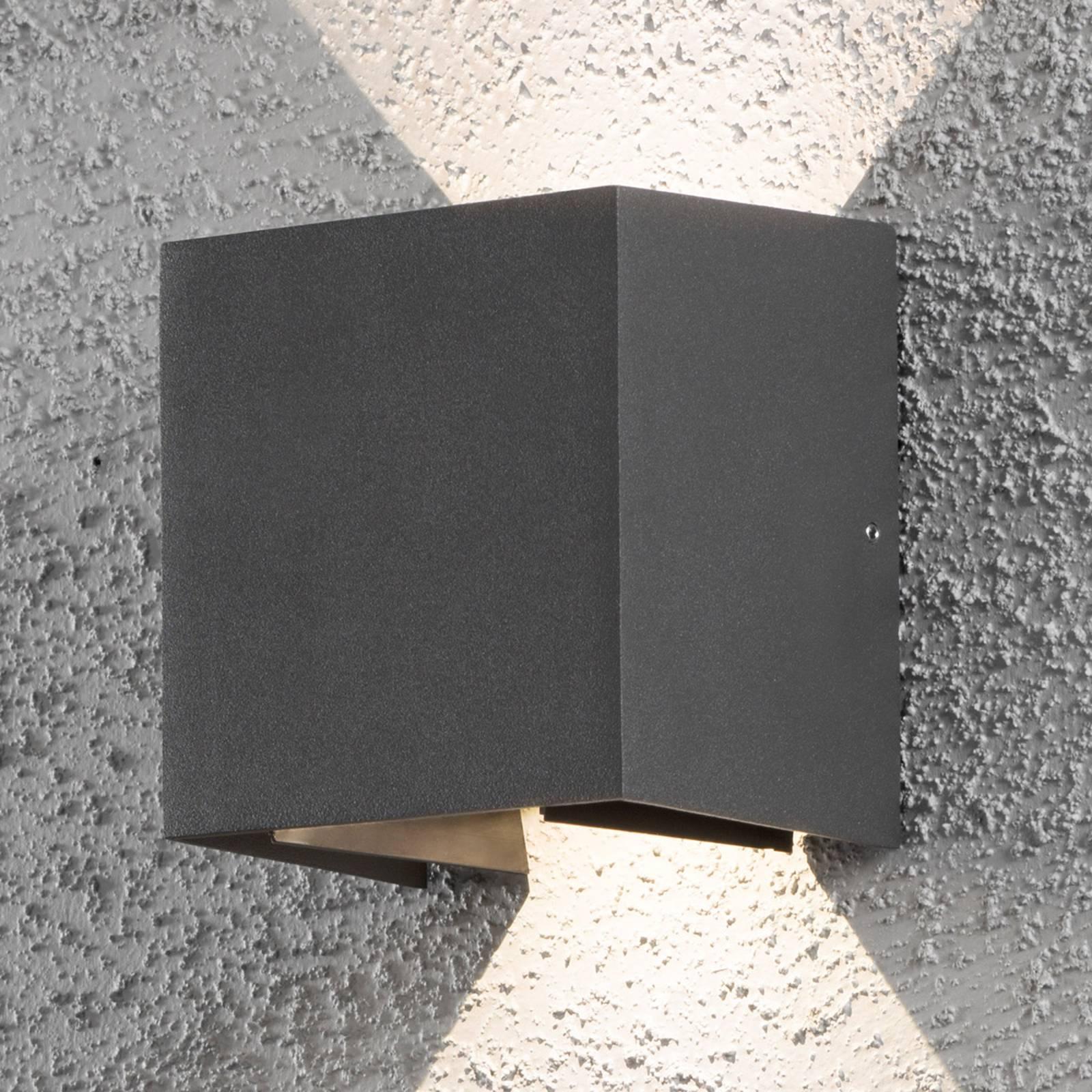 LED-Außenwandleuchte Cremona 13 cm anthrazit