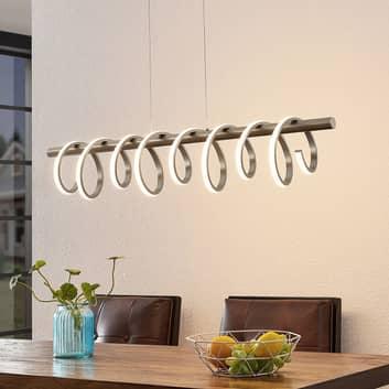 Lucande Milora lampa wisząca LED, nikiel