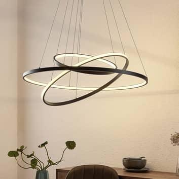 Lucande Filippa LED hanglamp met 3 ringen