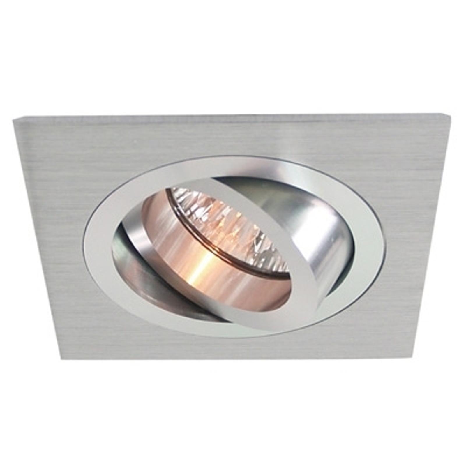 Hliníkové podhledové svítidlo výklopné, 9,2x9,2 cm