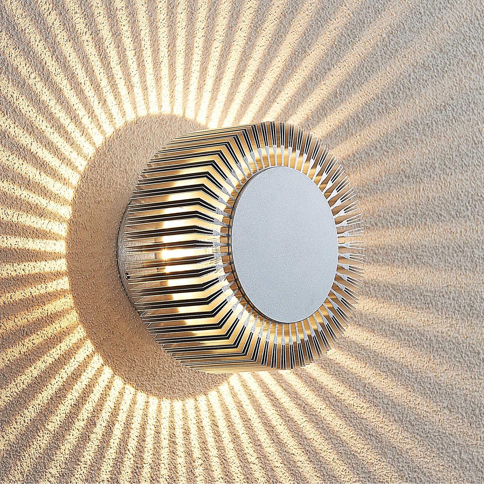 Lucande Keany LED-Außenwandlampe, Strahlenkranz