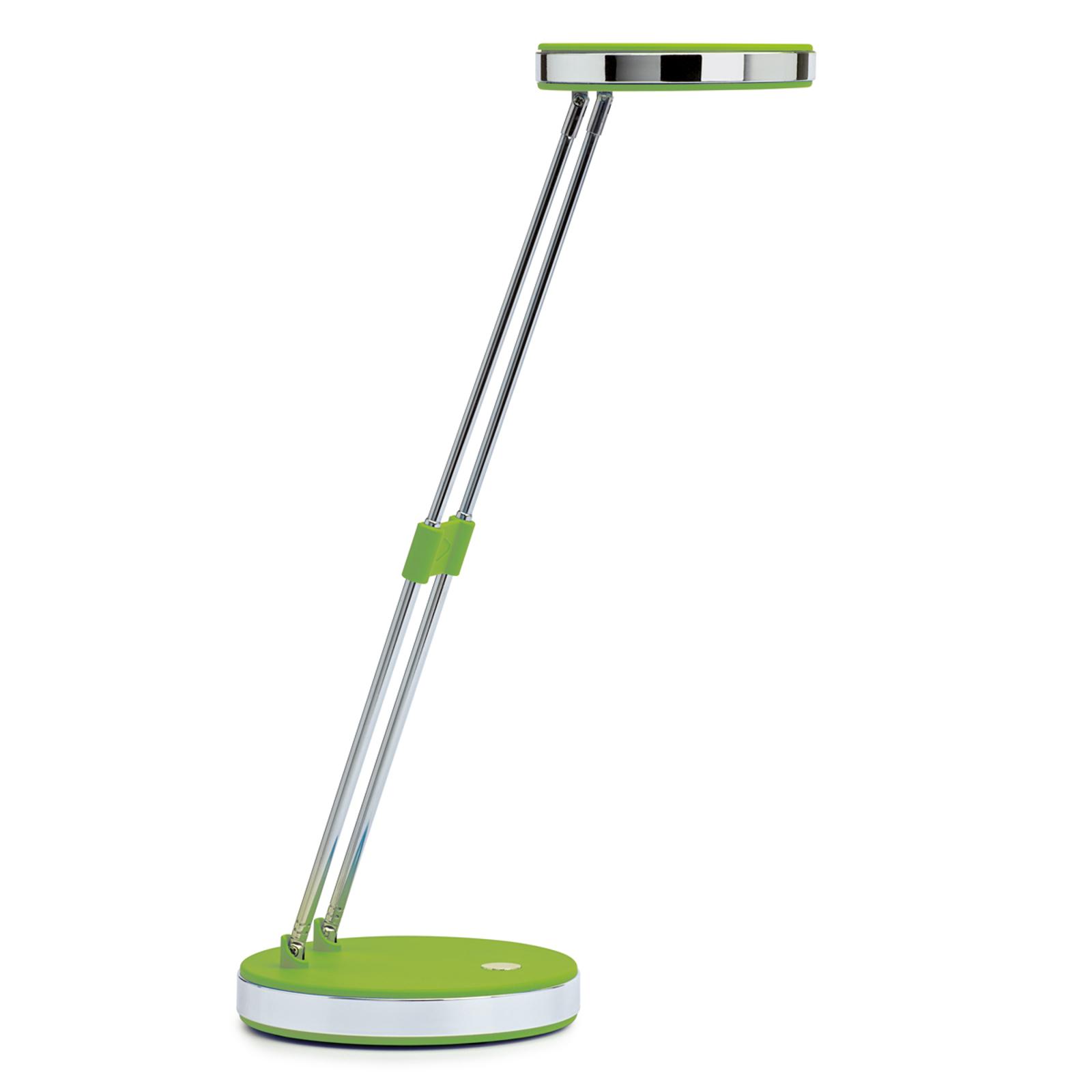 Trendige LED-Schreibtischleuchte Puck in Grün