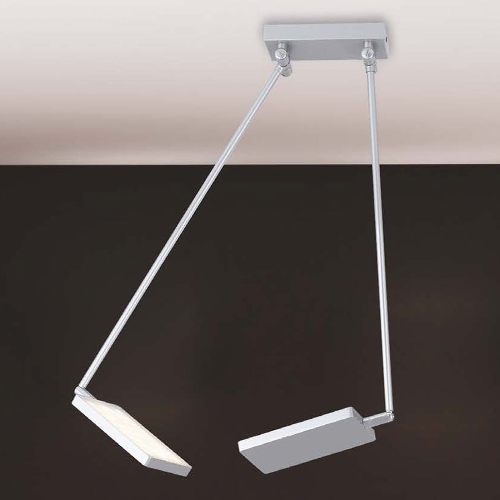 Lampa sufitowa LED Book, szara