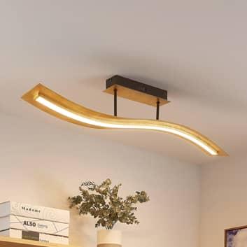 Lindby Larisa LED-Deckenlampe mit welligem Schirm