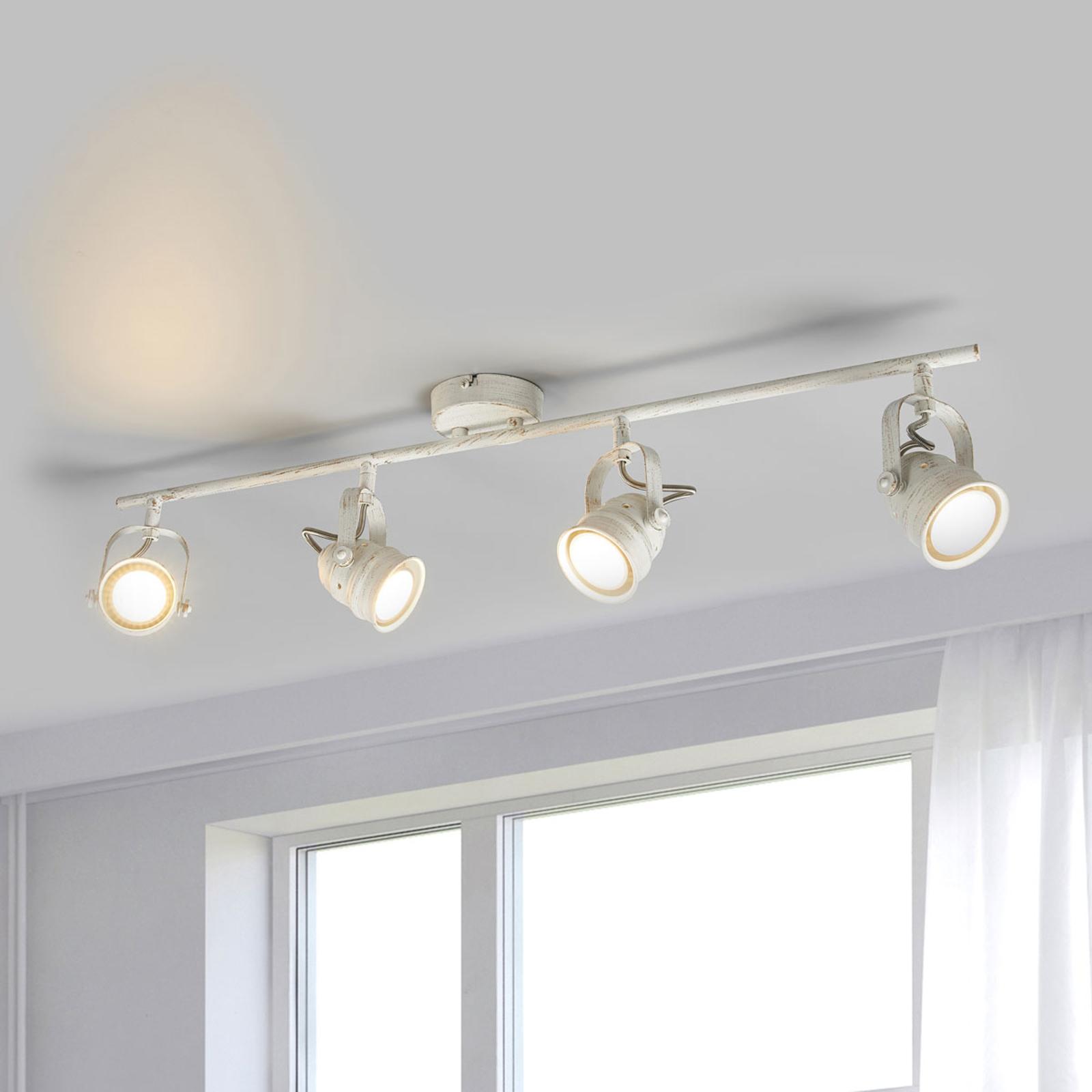 Lámpara LED de techo Leonor blanca, GU10