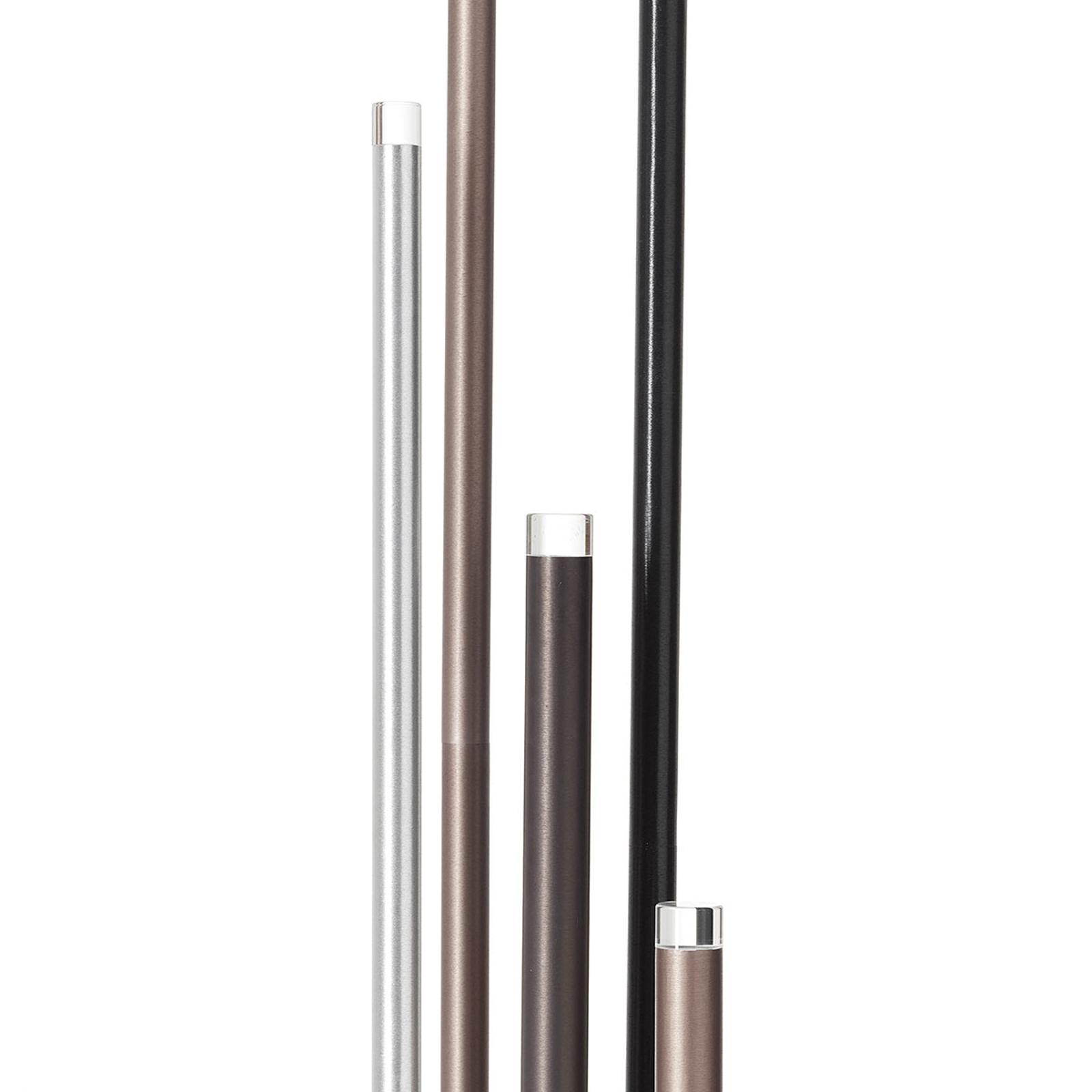 LED-Stehleuchte Cembalo 5fl mit Fußdimmer