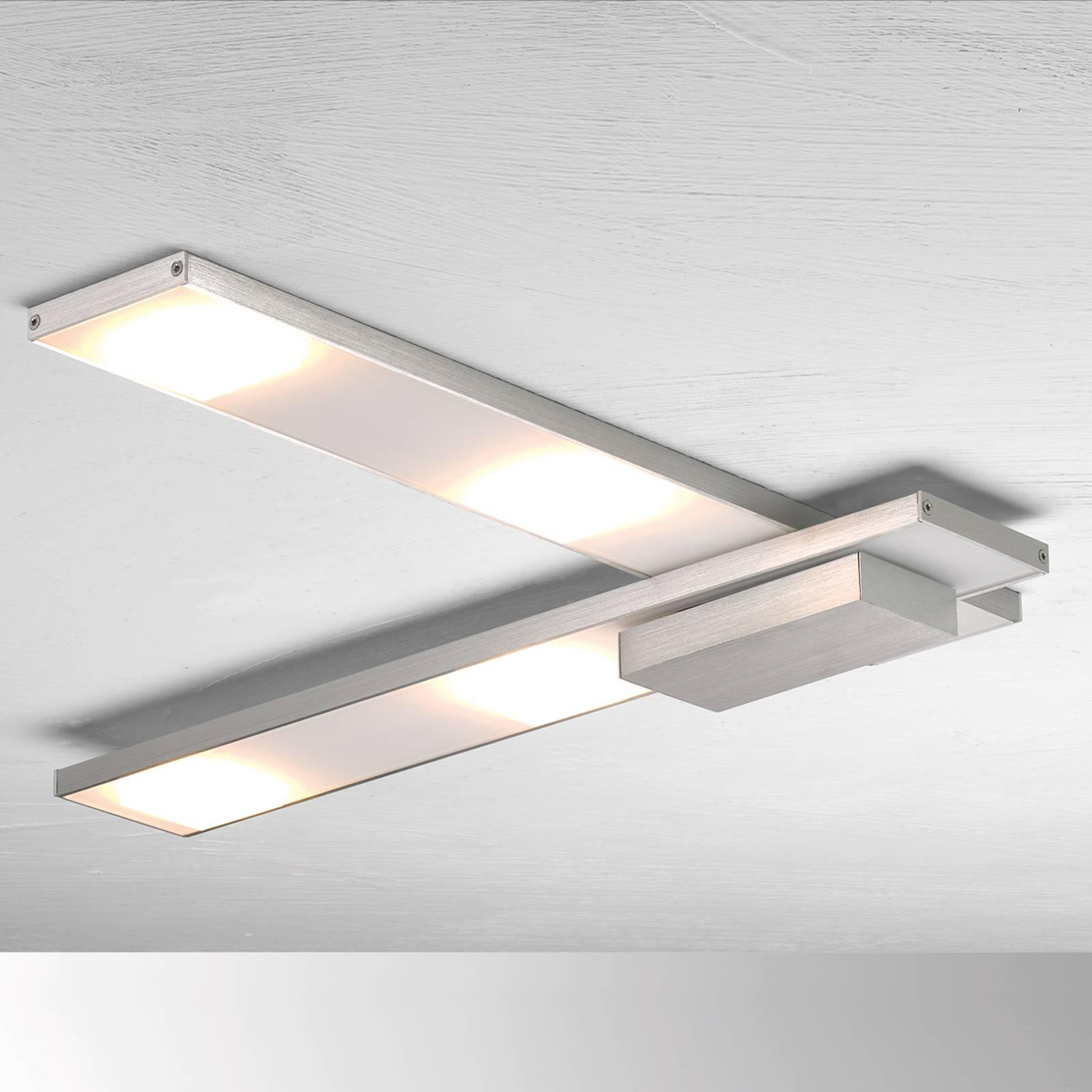 Geraffineerde LED plafondlamp Slight, aluminium