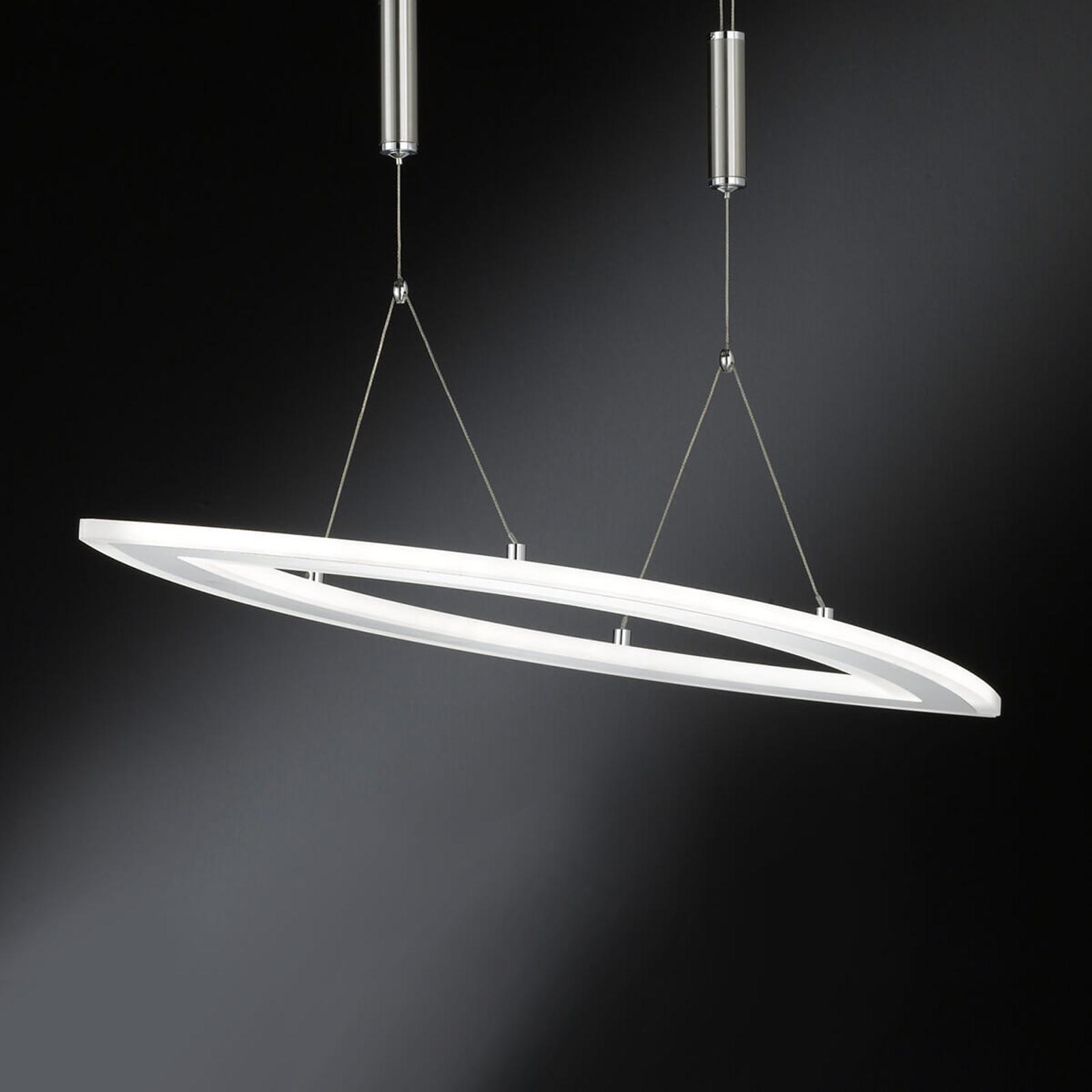 Dimbar, höjdjusterbar LED-pendellampa Nevil