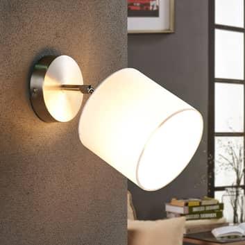 LED-væglampe med hvid stofskærm