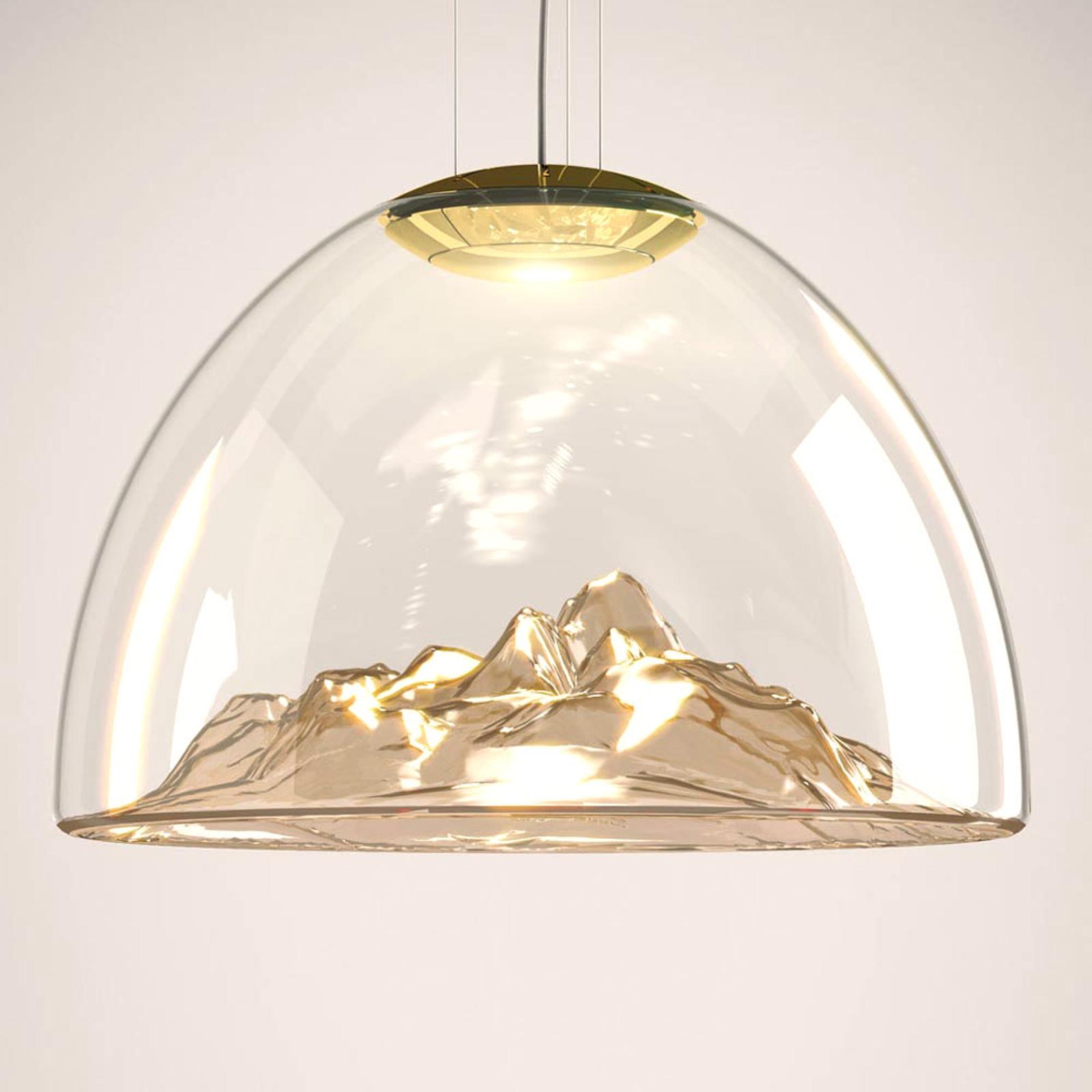 Axolight Mountain View - suspension LED ambré-doré