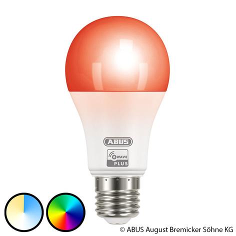 ABUS Z-Wave E27 9,5 W LED-lampa, RGBW