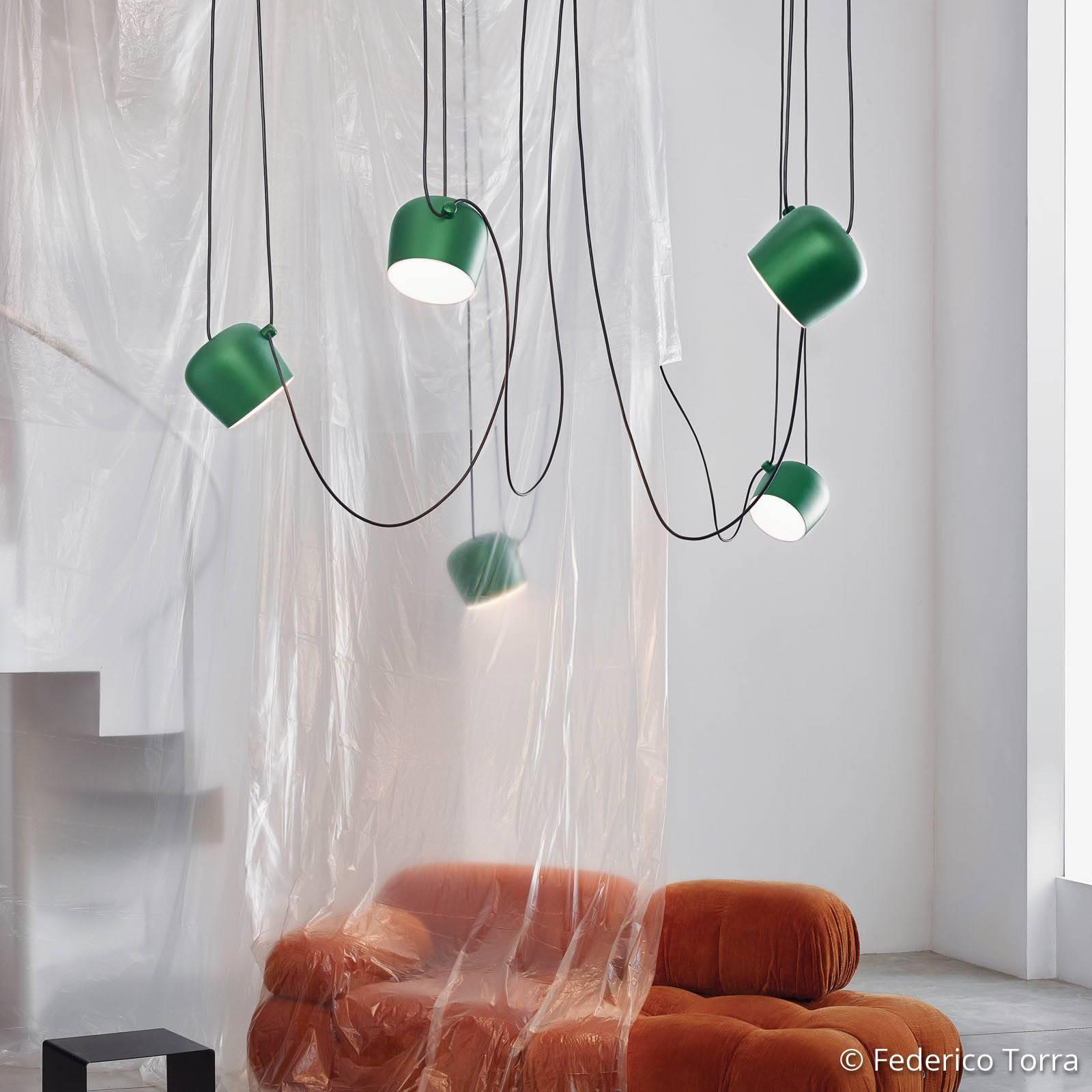 FLOS Aim LED-Pendelleuchte ivy eloxiert