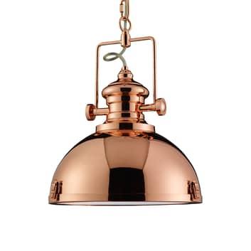 Lampa wisząca Metal industrialna kolor miedzi