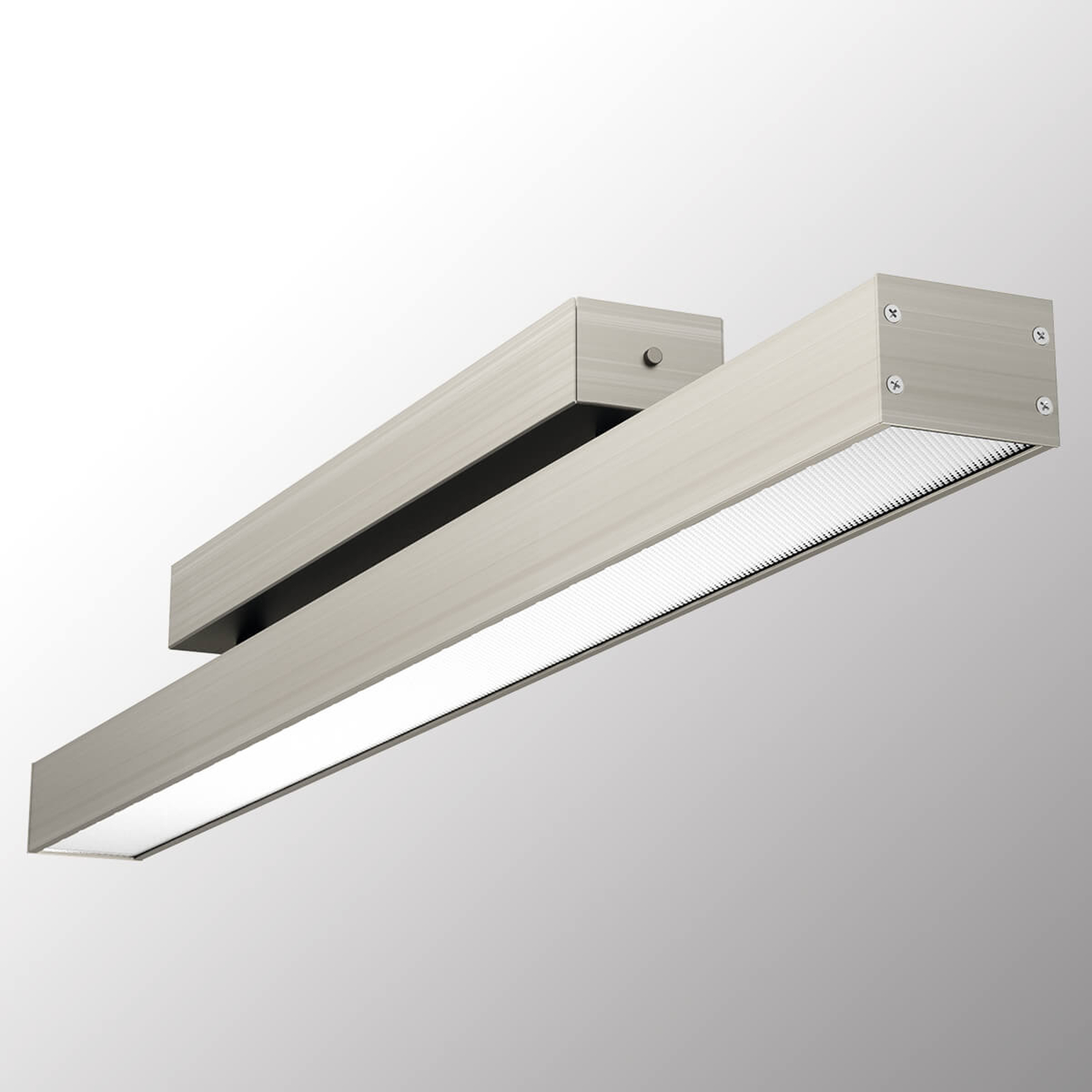 Blendfreie LED-Deckenleuchte Office One