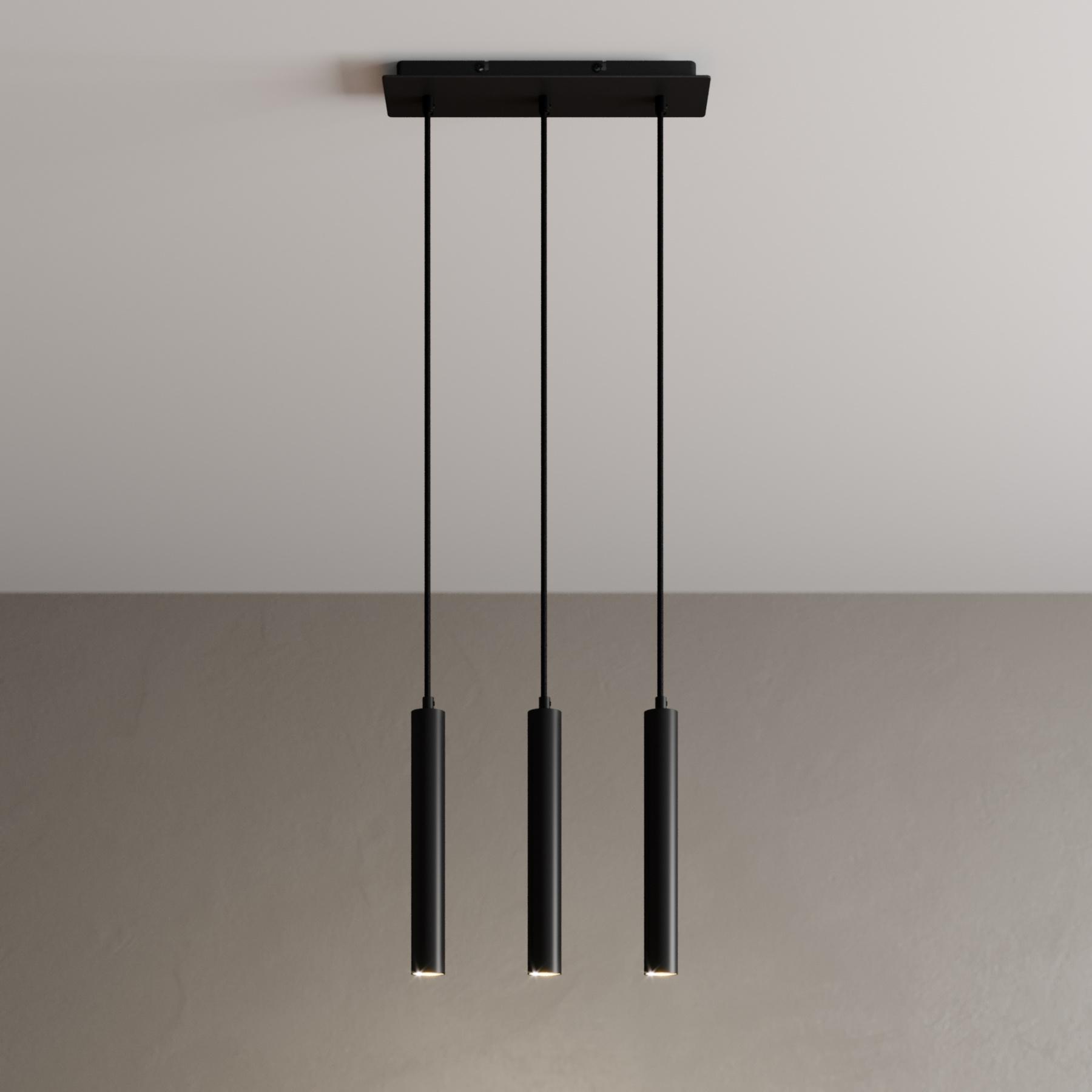 Arcchio Franka lampa wisząca LED, 3-punktowa długa