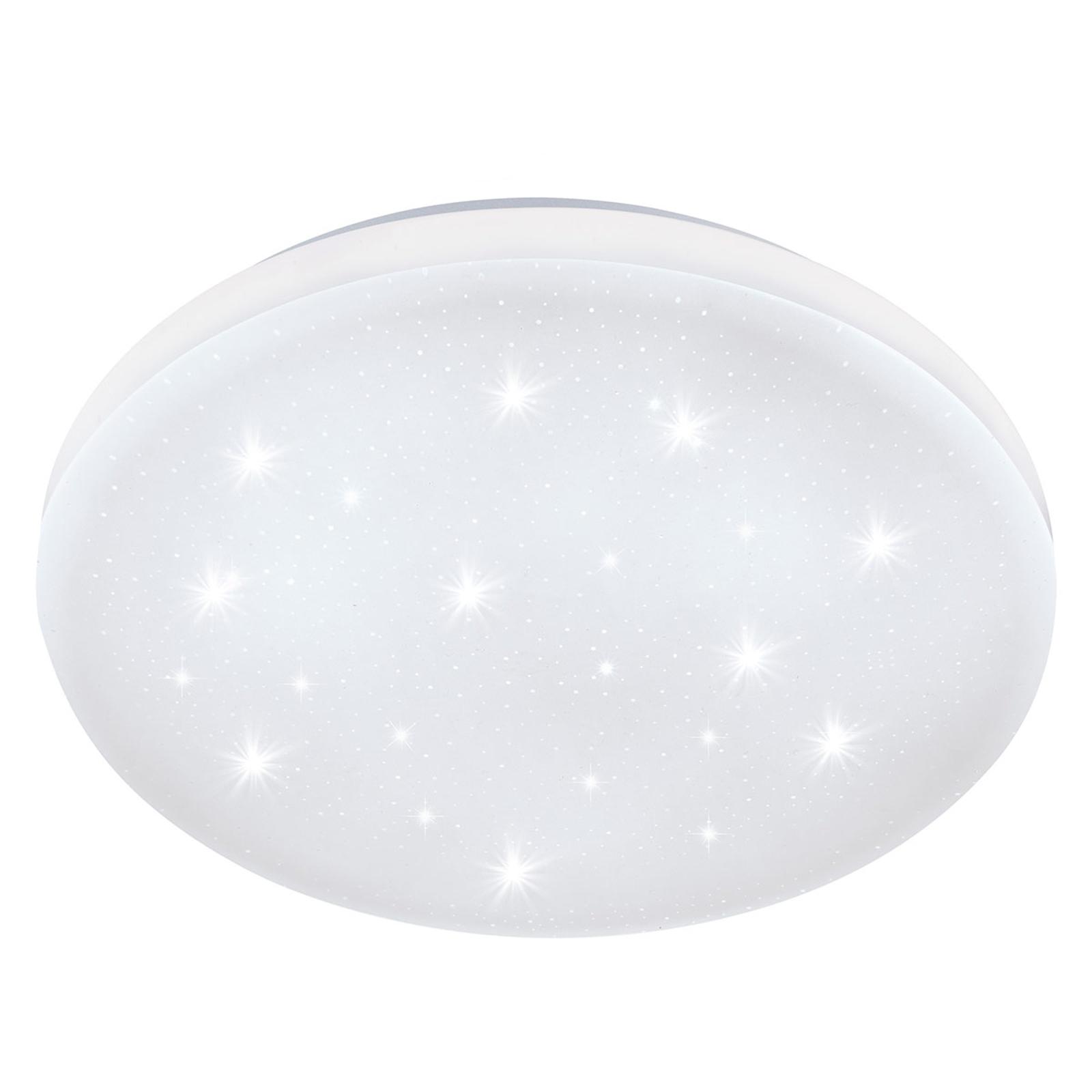 LED-taklampe Frania-S med krystalleffekt Ø 43 cm