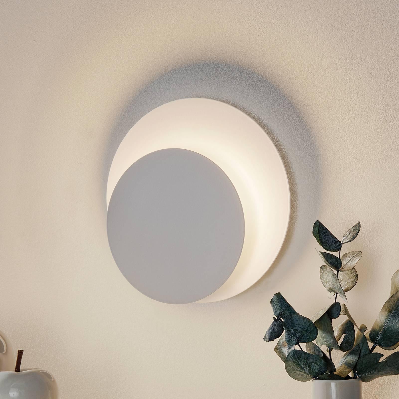 Wandlamp Circle in ronde vorm, wit