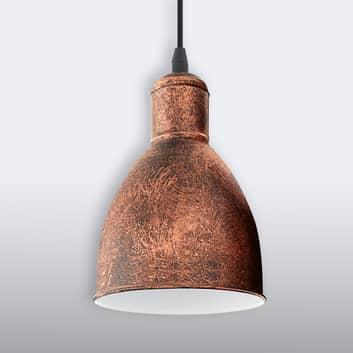 Vintage závěsné světlo Priddy 1 zdroj, měď antika