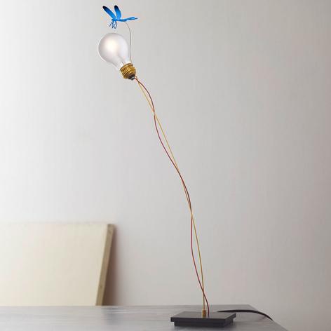 Lámpara de mesa I Ricchi Poveri Bzzz con libélula