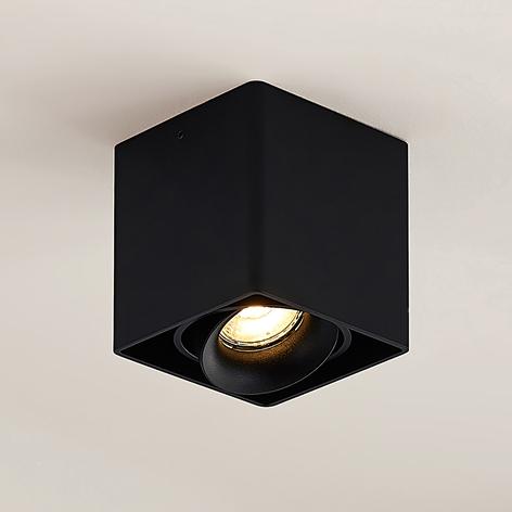 Arcchio Kubika downlight, GU10, 1 lyskilde, svart