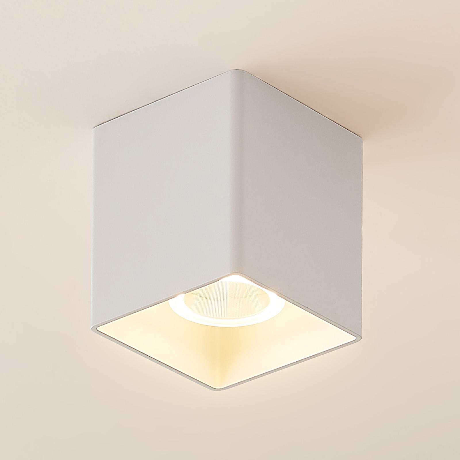 Arcchio Zaki LED-Deckenleuchte, eckig, weiß