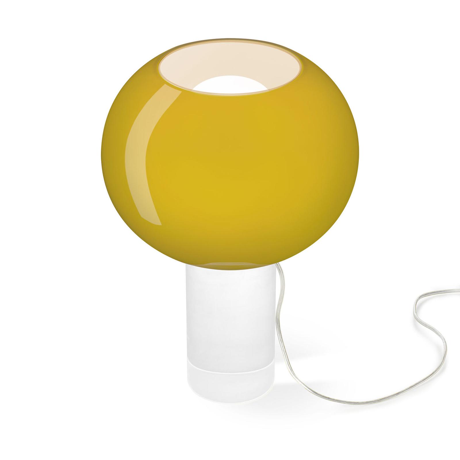 Foscarini Buds 3 bordlampe, kuleformet, gulgrønn