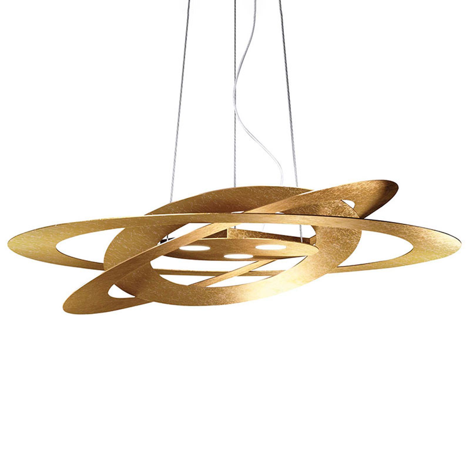 LED-Hängeleuchte Afelio Blattgold