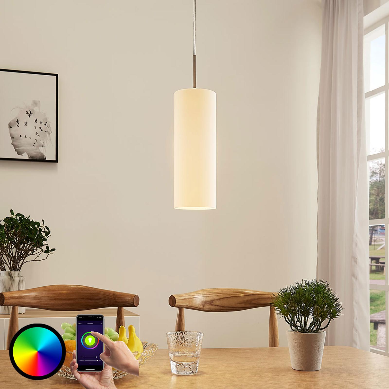Lindby Smart lámpara colgante LED Felice, luz RGB