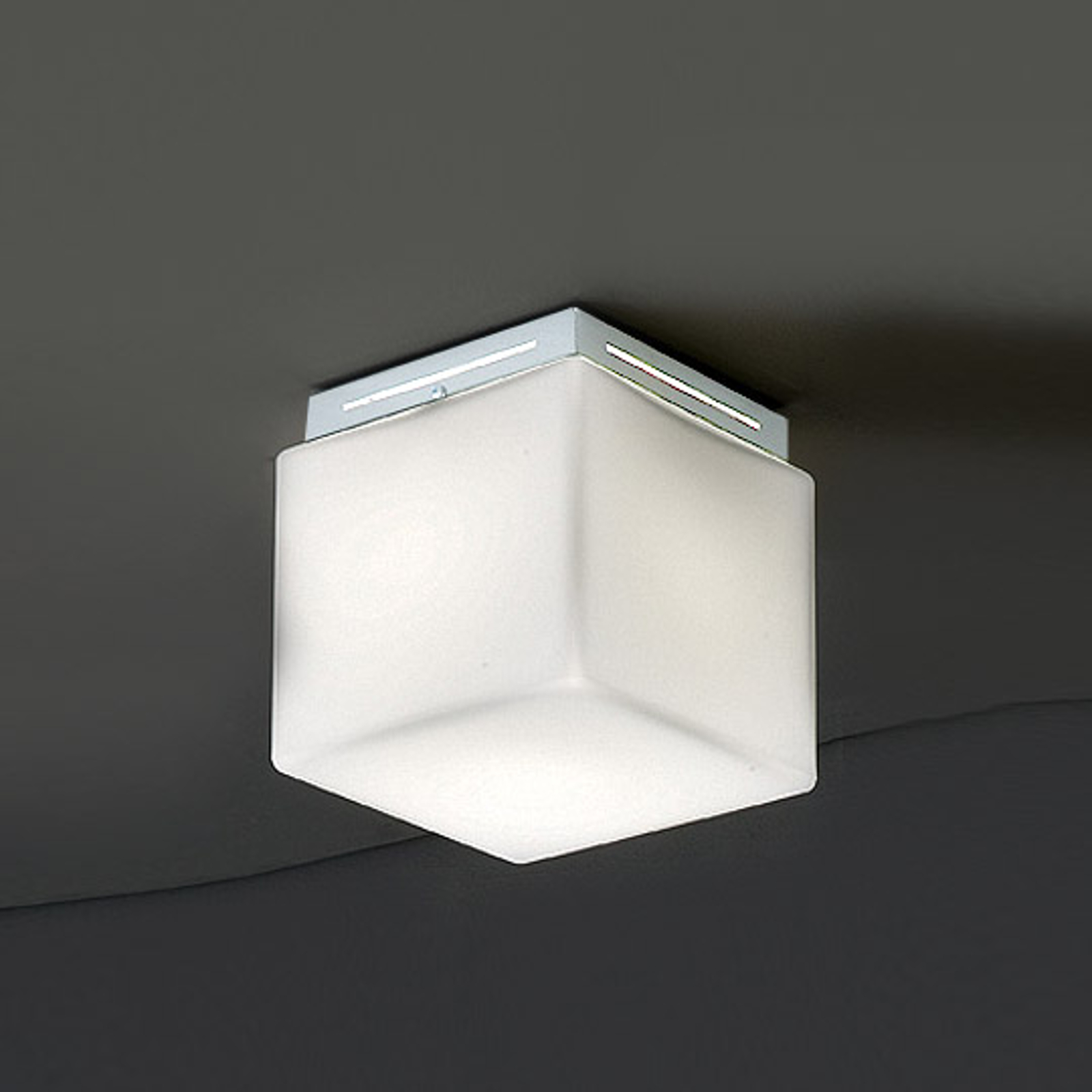 Plafondlampa Cubis, vit