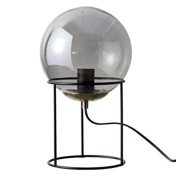 Dyberg Larsen Moon lámpara mesa, bola vidrio gris