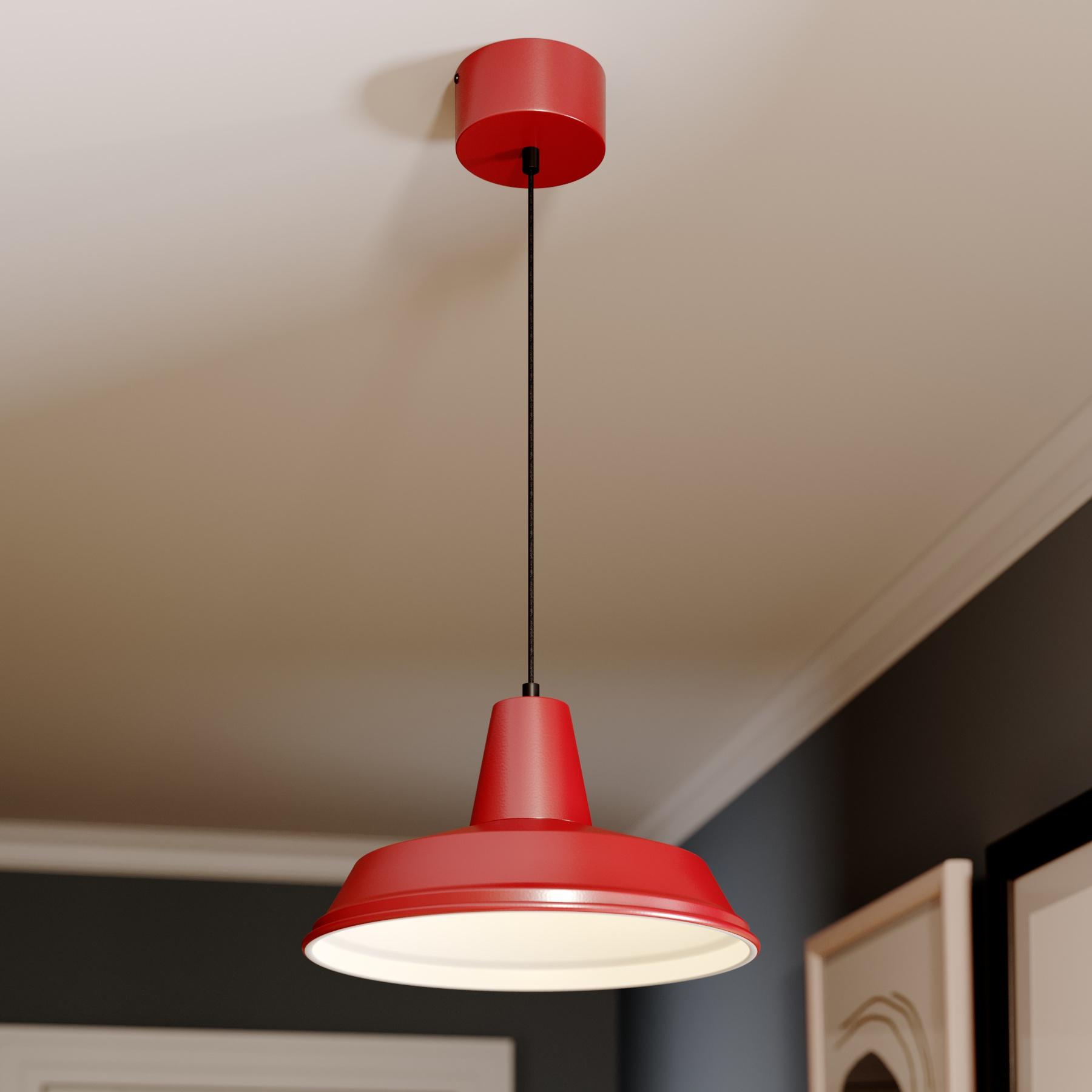 Lampa wisząca Class, czerwona/biała