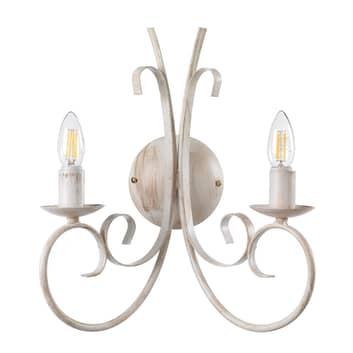 Applique Pompei comme lustre à 2 lampes