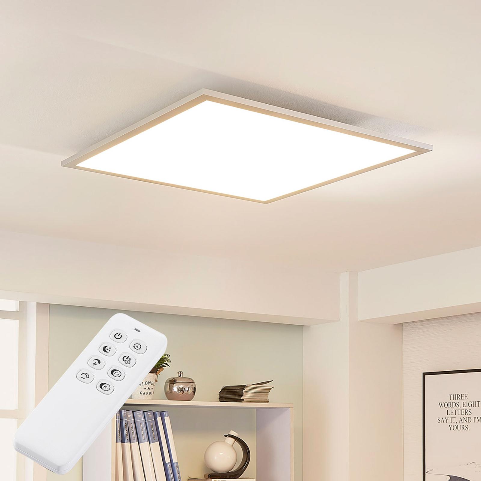 LED-panel Lysander med sølvramme, fjernkontroll