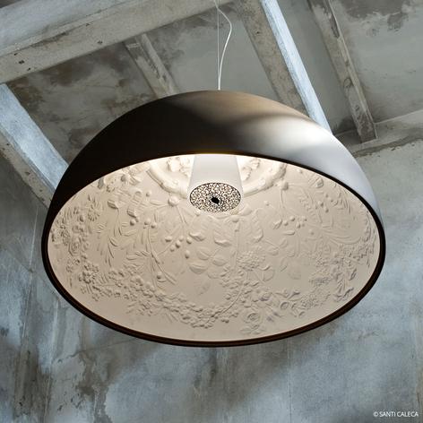 Rustbrun designertaklampe Skygarden 2