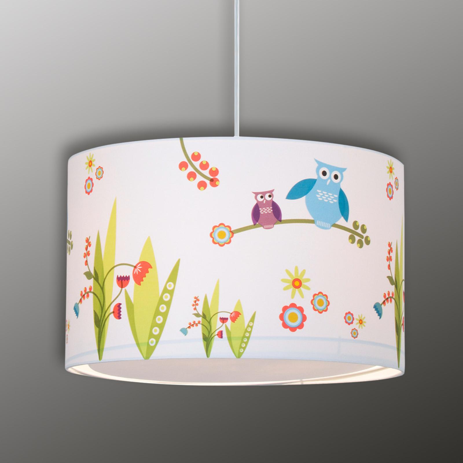 Birds - morsom barneromshengelampe