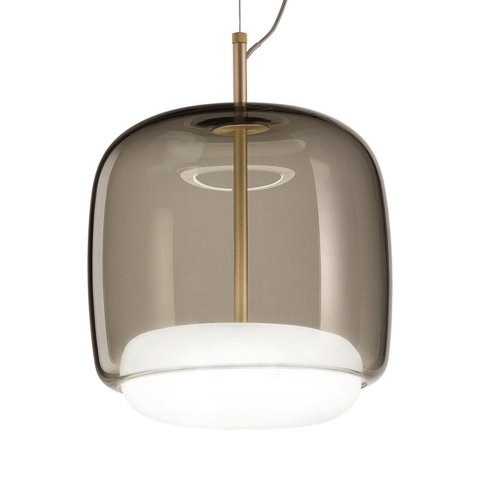 Lampa wisząca Jube SP P podwójny klosz szara/biała