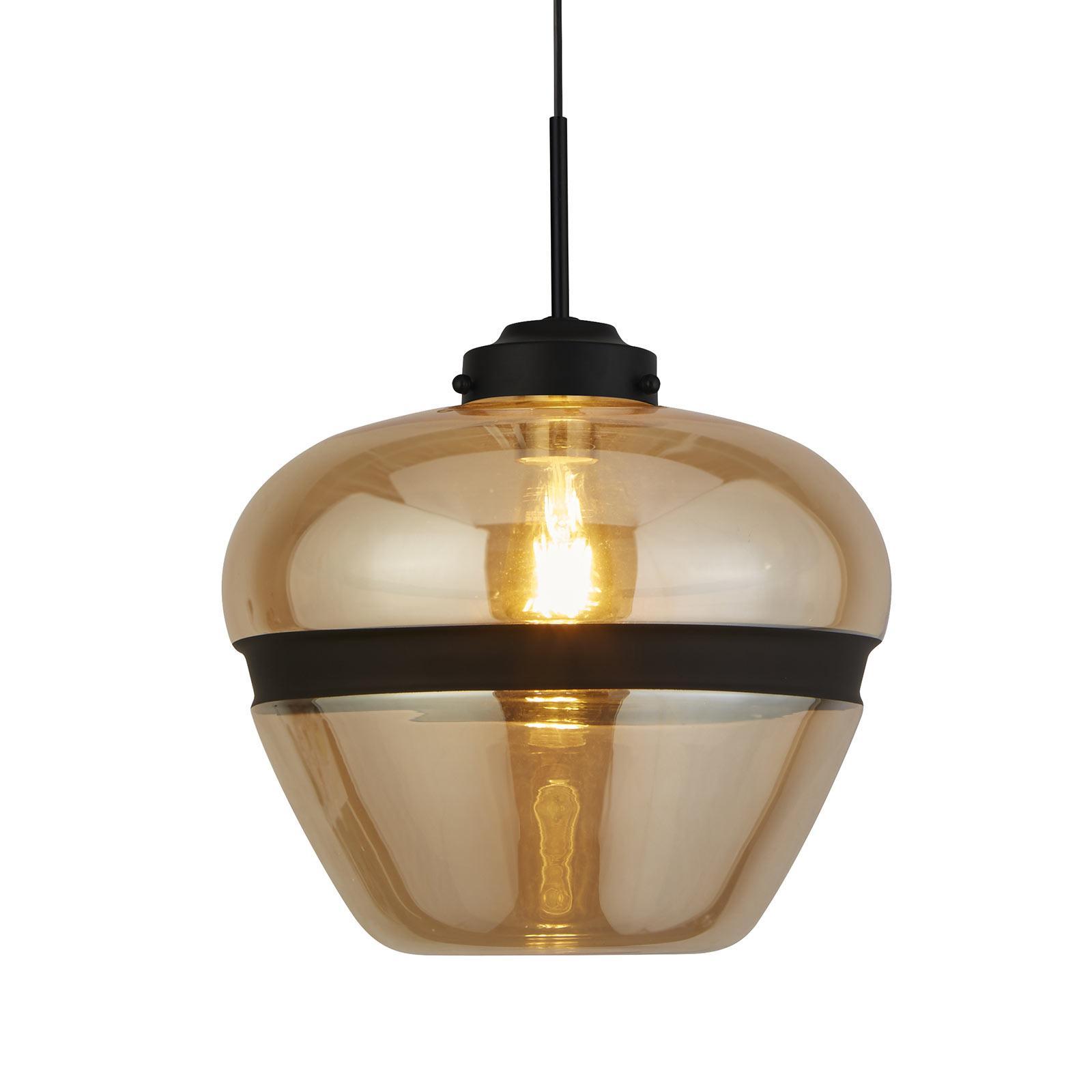 Lampa wisząca Meringue ze szkła, Ø 32 cm szampan