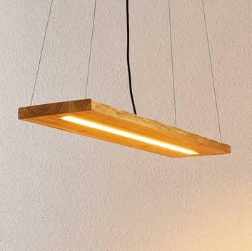 Lindby Nesaja dřevěné LED závěsné svítidlo