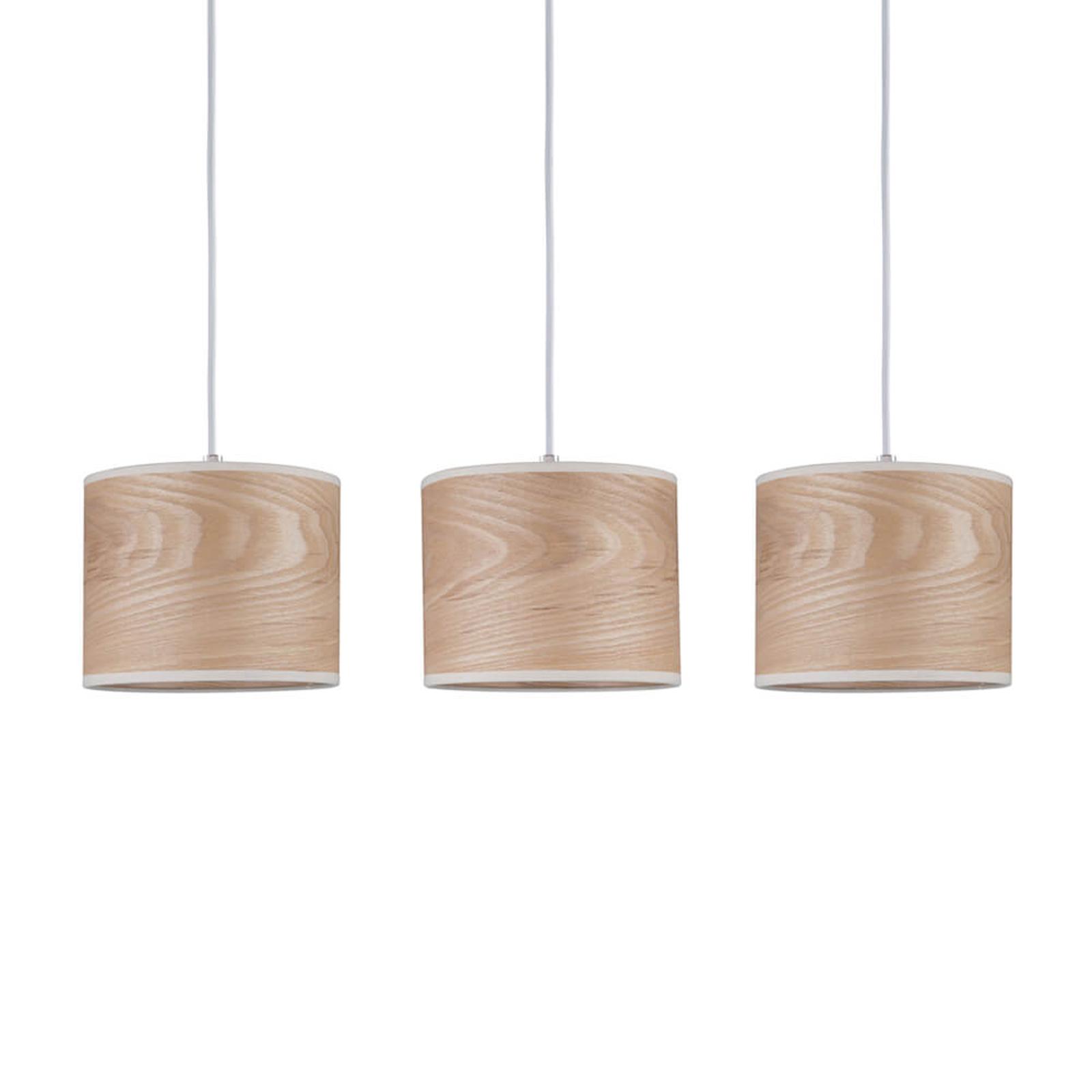 Suspension à 3 lampes Neta au design naturel