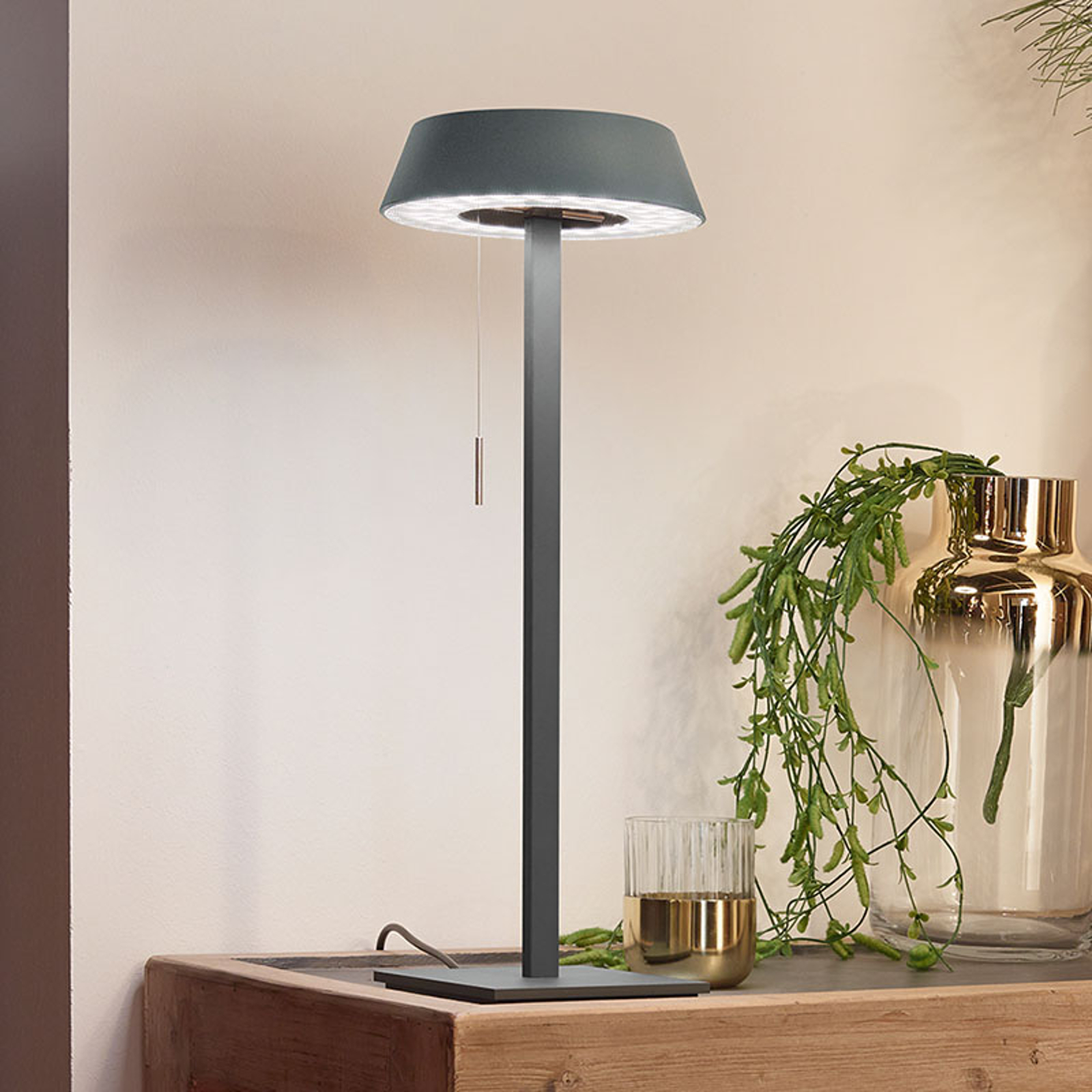 OLIGO Glance LED tafellamp mat grijs