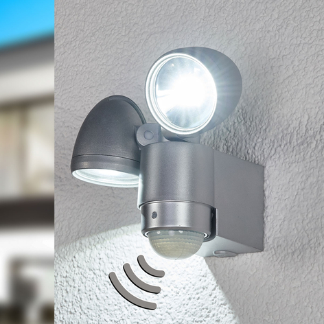 Venkovní LED nástěnný zářič Radial dvoubodový