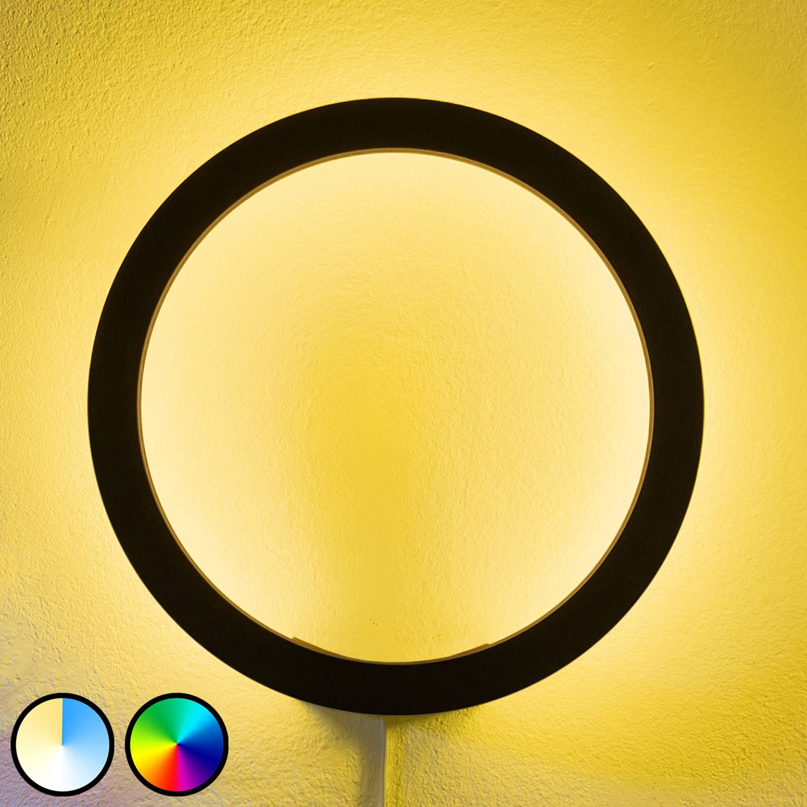 Philips Hue Sana LED wandlamp, RGBW, zwart